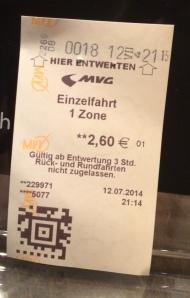ubahn ticket